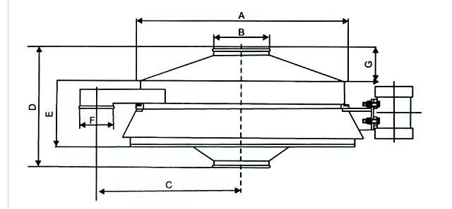 直排式振动筛结构图